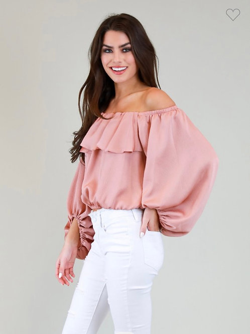 Silky Off the Shoulder Top!