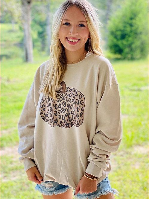 Cheetah Pumpkin Sweatshirt