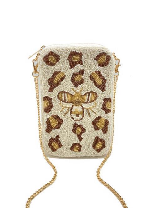 Leopard Bee Phone Bag