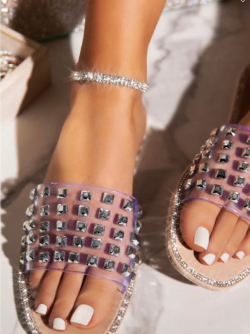 Pre-Order Nude Studded Sandals