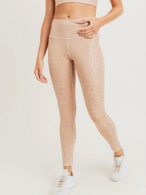 Leopard Foil Highwaist leggings