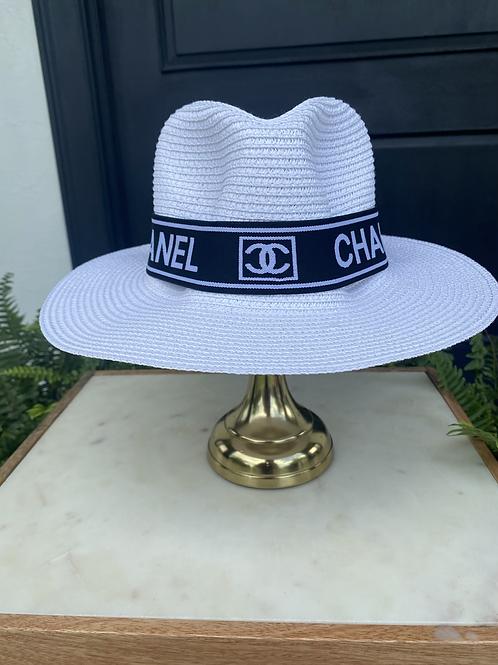 White Chanel Sun Hat