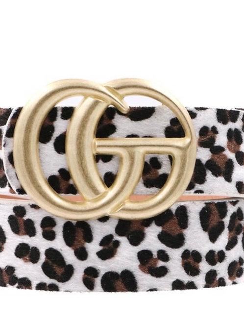 Faux Fur Cheetah Belt