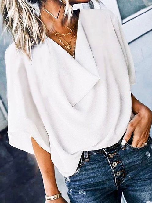 Loose Fit Woven Blouse Top