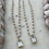 Thumbnail: White and Gold Jewel Necklace