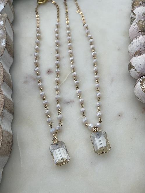 White and Gold Jewel Necklace