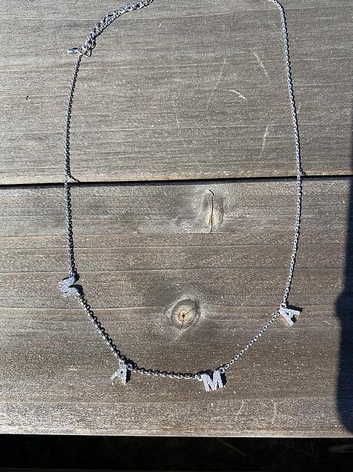 Dainty Mama Rhinestone Necklace