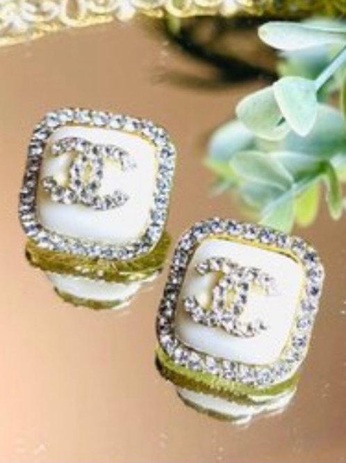 Ivory Chanel Earrings