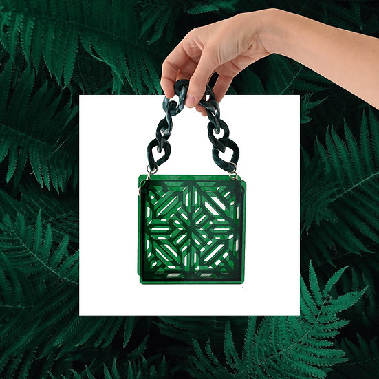 Electra mini bag in forest green