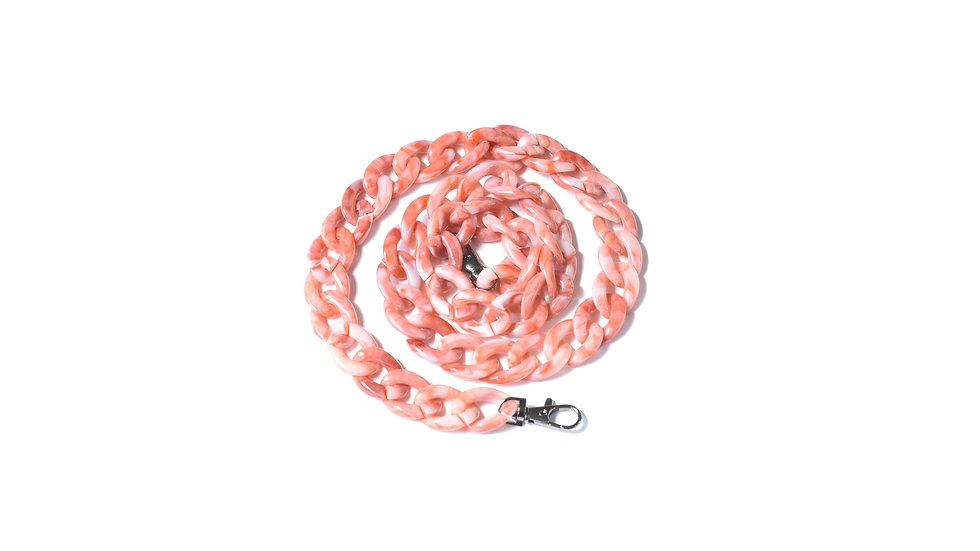 Salmon pink acrylic chain
