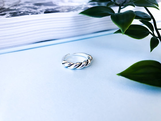 Croissant Silver Ring
