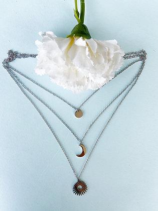 Auto-Cuidado Silver Necklace