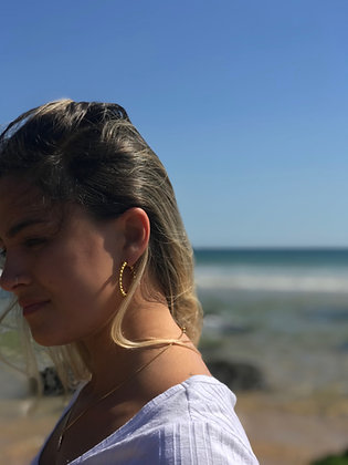 Gold Karma Earrings