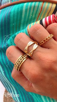 Triple Love Rings