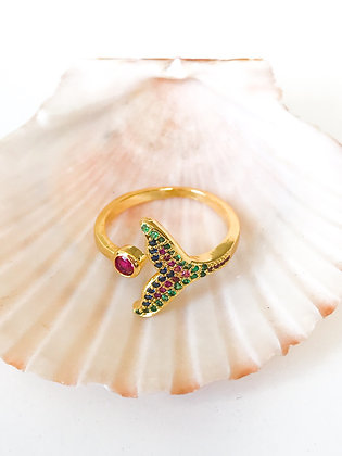 Mermaid in Rainbow Ring
