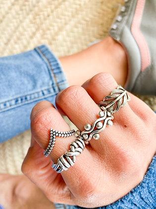 Arame em Nós Ring (anel debaixo dedo indicador)