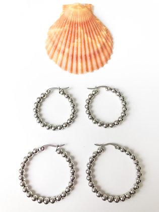 Silver Karma Earrings