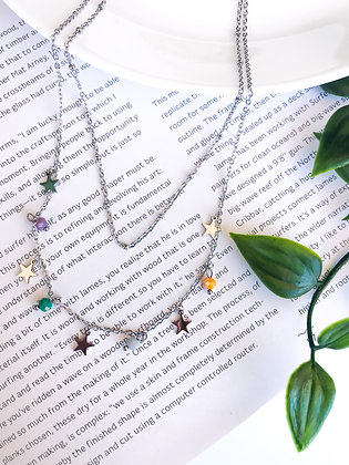 2 Layers Star Necklace