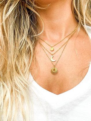 Auto-Cuidado Gold Necklace