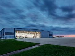 Astin Large Hangar View at Night