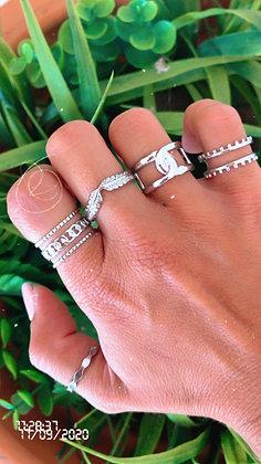 Grey Love Rings