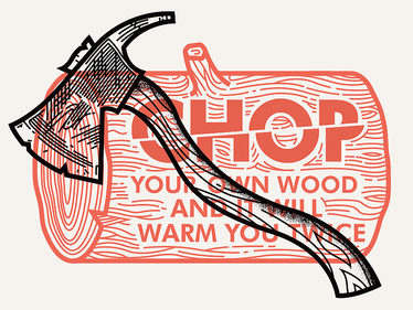 Chop your own wood print