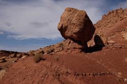 Fallen rock cube