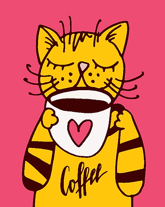 Postcard - Coffee cat
