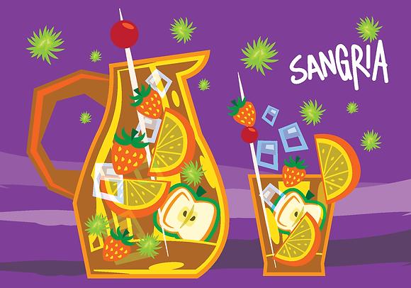 Postcard - Sangria