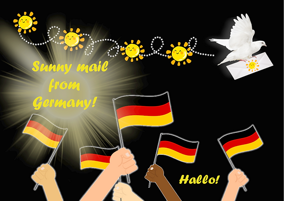 Postcard - Sunny mail from Germany