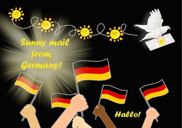 Carte postale - Sunny mail d'Allemagne