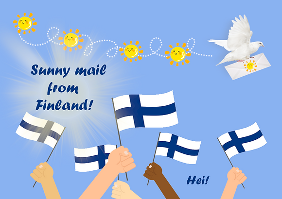 Postcard - Sunny mail from Finland