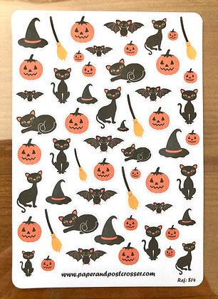 Stickers - Halloween black cats