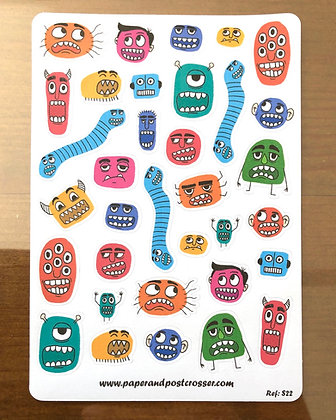 Stickers - Funny monsters