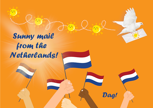 Postcard - Sunny mail from the Netherlands