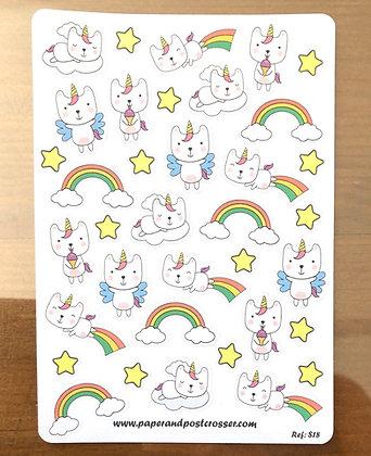 Stickers - Cat wannabe unicorn