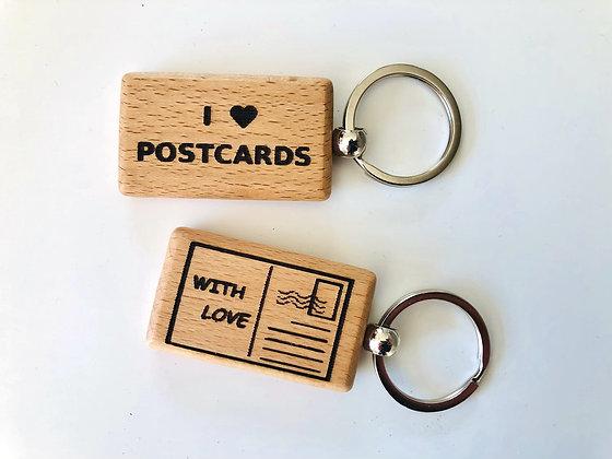 Keyring - I love postcards