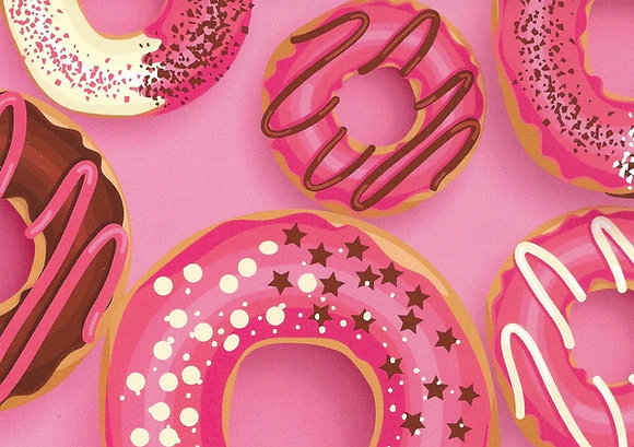 Postcard - Pink Donuts