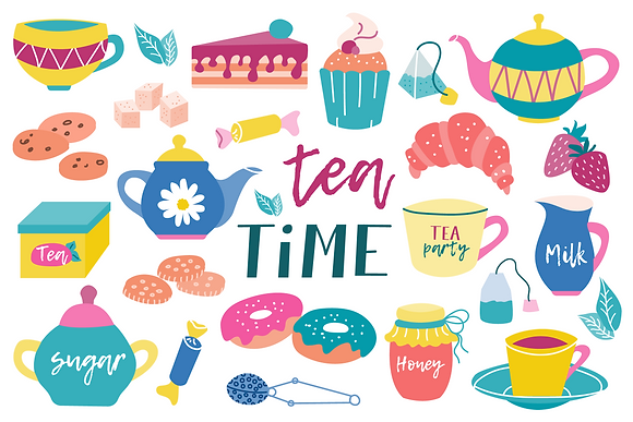 Postcard - Tea Time