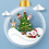 Thumbnail: Postcard - Christmas blue ornament