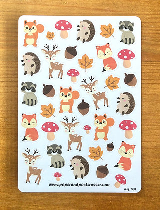 Stickers - The cute animals of the forest