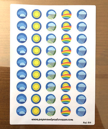 Stickers - Weather icons