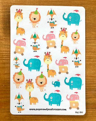 Stickers - party animals