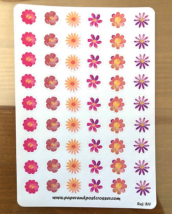 Stickers - Water color flowers