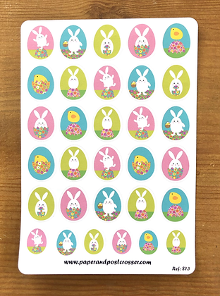 Stickers - Easter Eggs and bunnies