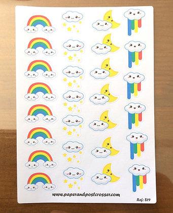 Stickers - Kawaii clouds