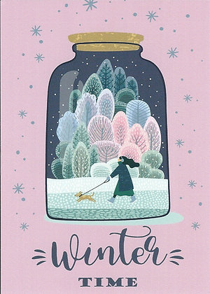 Postcard - Winter in a jar