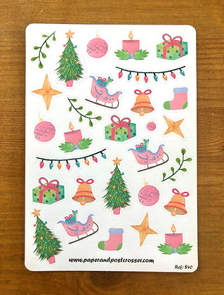 Stickers - Christmas in pink