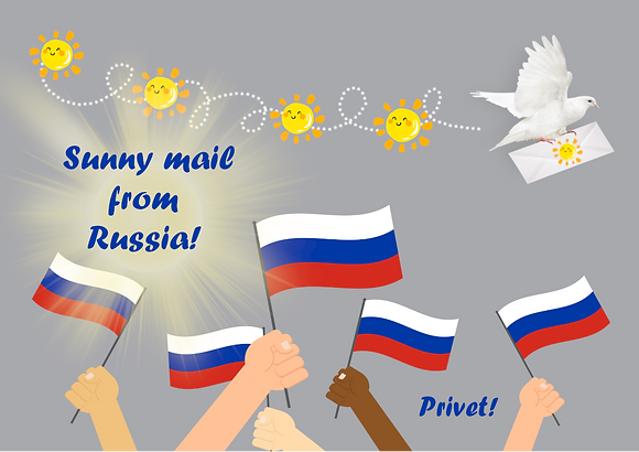 Postcard - Sunny mail from Russia