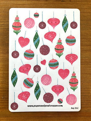 Stickers - Pink and green ornaments